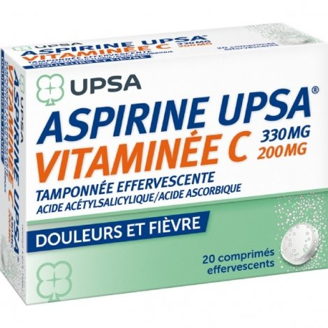 UPSA Aspirine Vitaminée C 20 Comprimés Effervescents pas cher, discount