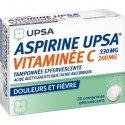 Aspirine UPSA Vitaminée C 20 Comprimés Effervescents