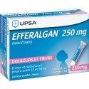 Efferalgan 250 mg Vanille-Fraise Adultes, Adolescents et Enfants entre 14 et 50 kg x10 Sachets