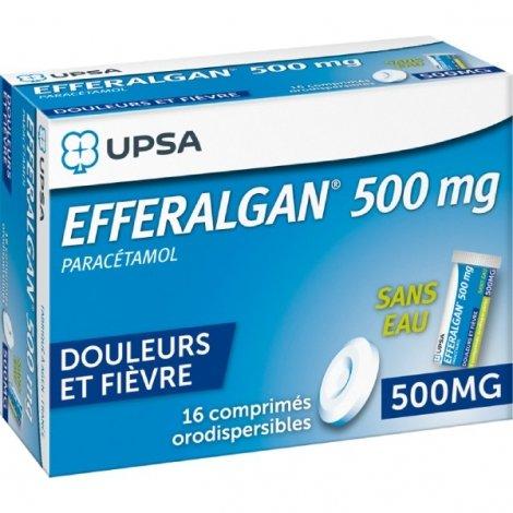 Efferalgan 500 mg 16 Comprimés Orodespersibles pas cher, discount