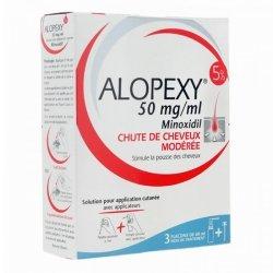 Alopexy Minoxidil 5% Chute de Cheveux 3 flacons de 60 ml