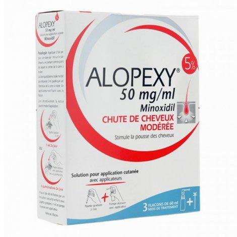 Alopexy Minoxidil 5% Chute de Cheveux 3 flacons de 60 ml pas cher, discount