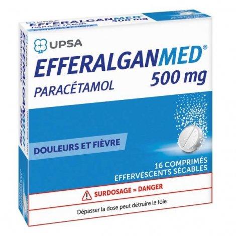Efferalganmed 500 mg 16 Comprimés Effervescents Sécables pas cher, discount