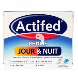 Actifed Rhume Jour et Nuit 12 Comprimés Jour + 4 Comprimés Nuit pas cher, discount