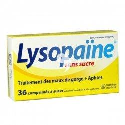 Lysopaine Sans Sucre Mal de Gorge 36 Comprimés à Sucer