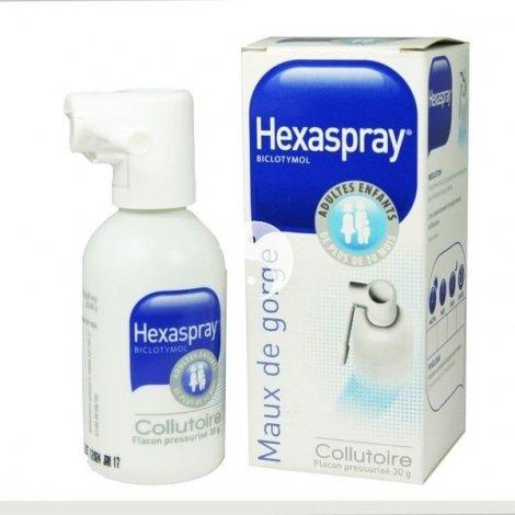 Hexaspray Collutoire Mal de Gorge Flacon 30 g pas cher, discount