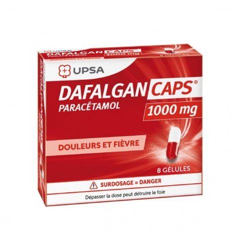 Dafalgan Caps 1000mg 8 gélules pas cher, discount