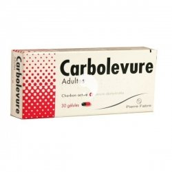 Carbolevure Adultes Digestion Difficile 30 Gélules
