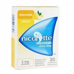 Nicorette Microtab - 30 Comprimés Sublingaux 2 mg Citron pas cher, discount