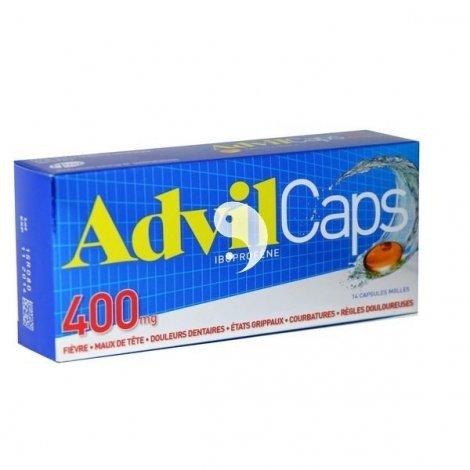 AdvilCaps 400 mg 14 Capsules molles pas cher, discount