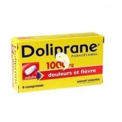 Doliprane 1000 mg Douleurs et Fièvre 8 Comprimés