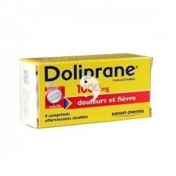 Doliprane 1000 mg Douleurs et Fièvre 8 Comprimés Effervescents Sécables