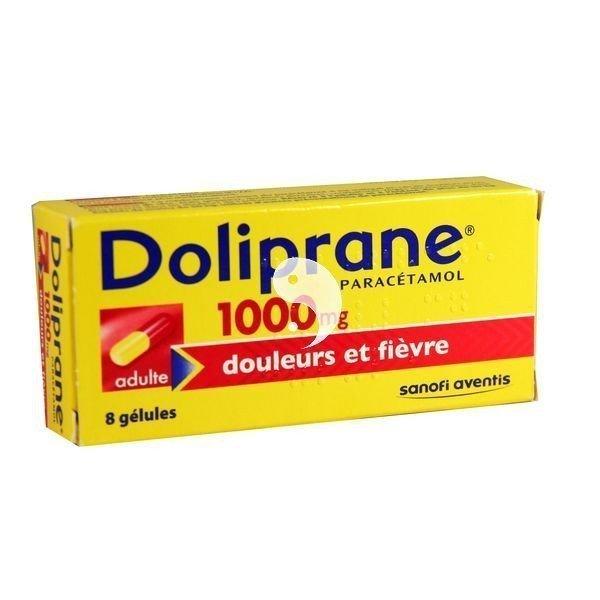 Doliprane 1000 mg Douleurs et fièvre 8 Gélules
