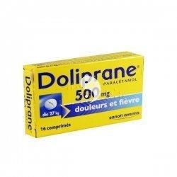 Doliprane 500 mg Douleurs et Fièvre 16 Comprimés pas cher, discount
