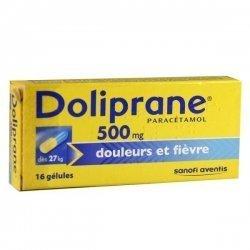 Doliprane 500 mg Douleurs et Fièvre 16 Gelules pas cher, discount