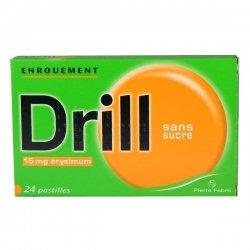 Drill Enrouement Sans Sucre 24 Pastilles à sucer pas cher, discount