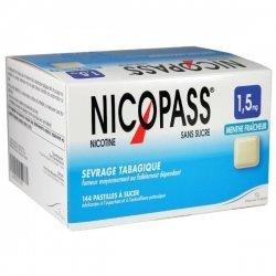 Nicopass 144 Pastilles 1,5 mg Menthe Fraîcheur Sans Sucre pas cher, discount
