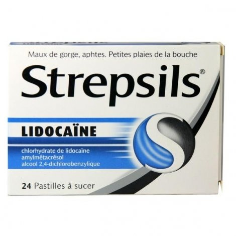 Strepsils Lidocaïne 24 Pastilles à sucer pas cher, discount