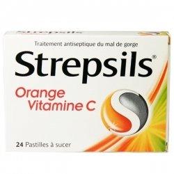 Strepsils Orange Vitamine C 24 Pastilles à sucer pas cher, discount