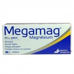 Megamag Magnesium 45 mg 120 Gélules pas cher, discount