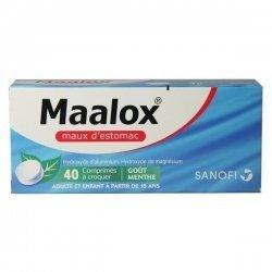 Maalox Maux d'Estomac Menthe 40 Comprimés à croquer pas cher, discount
