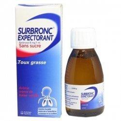 Surbronc Expectorant Sans Sucre Solution Buvable 100 ml pas cher, discount