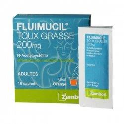 Fluimucil 200mg Toux Grasse Adulte 18 Sachets