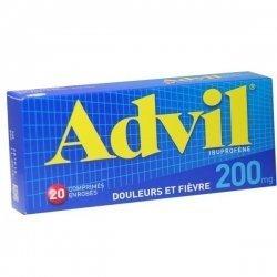 Advil 200 mg 20 Comprimés enrobés pas cher, discount