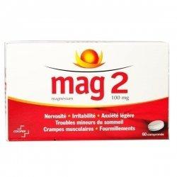 Mag 2 Magnésium 100 mg 60 Comprimés pas cher, discount