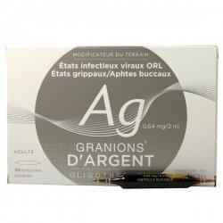 Granions d'Argent 30 Ampoules buvables pas cher, discount