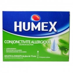 Humex Conjonctivite Allergique 10 Collyres en Solution Unidoses pas cher, discount