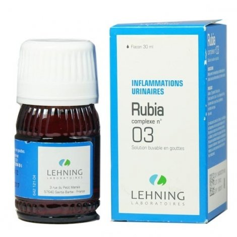 Lehning N°03 Rubia Inflammations Urinaires 30 ml pas cher, discount