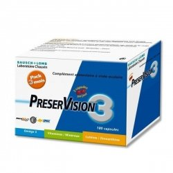 Bausch & Lomb : PreserVision 3 Lot de 3x60 capsules