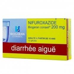 Nifuroxazide 200 mg Biogaran Diarrhées Aigues 12 Gelules pas cher, discount