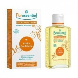 Puressentiel Effort Musculaire : Huile de Massage Bio 200 ml pas cher, discount